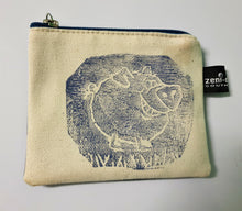 Stamped Change Purse by Farmyard Zeni Doodles