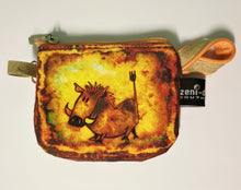 Yellow Warthog Change Purse by Farmyard Zeni Doodles