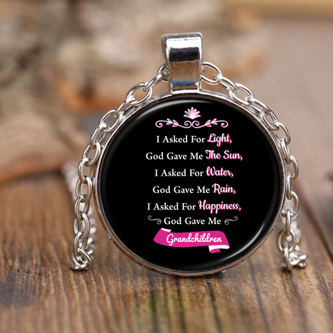 Grandkids Prayer Necklace