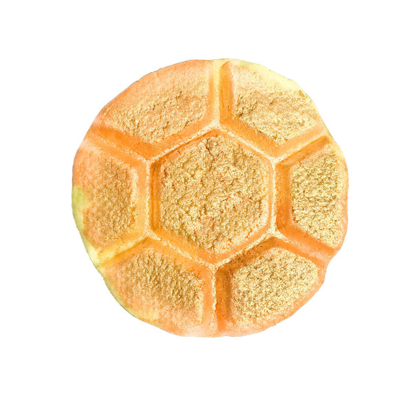 Honeycomb shaped Bubble Bar Called Honey Bath crafted by KALEIDOSOAPS