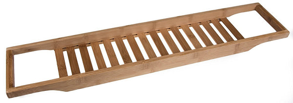 Wooden Bamboo Bath Caddy to rest your favorite items on while bathing