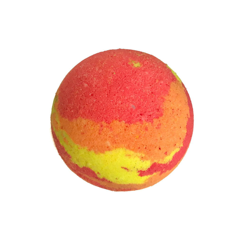 Giant Red Orange & Yellow Bath Bomb called Jupiter by KALEIDOSOAPS