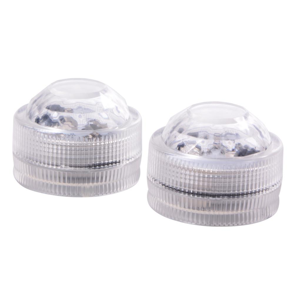 White Submersible LED Bath Light Duo from KALEIDOSOAPS