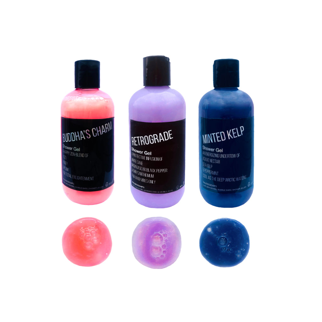 SHOWER POWER Set of 3 Shower Gels