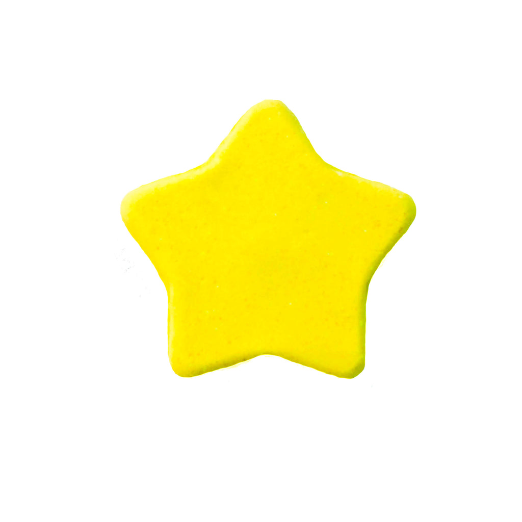 Yellow Star Bath Bomb with Bath Light inside.