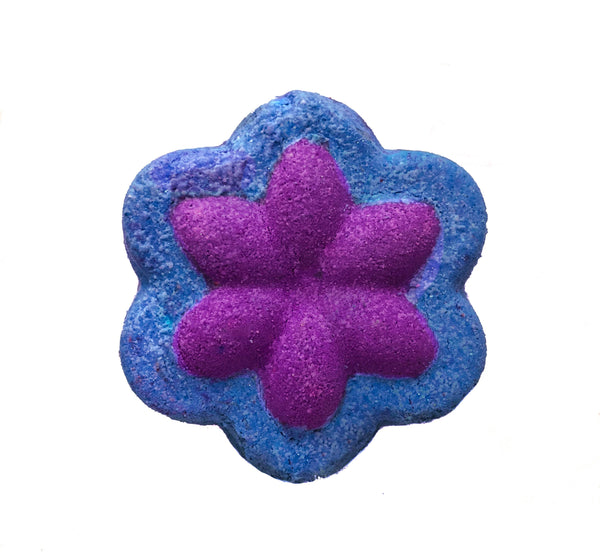 Purple and Blue Flower Shaped Bath Bomb from KALEIDOSOAPS