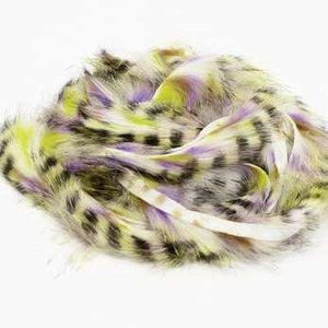 Black Barred Groovy Bunny Strips - Micro - East Rosebud Fly & Tackle