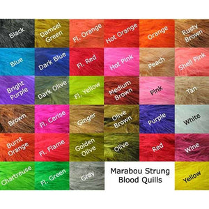Strung Blood Marabou Quills - East Rosebud Fly & Tackle
