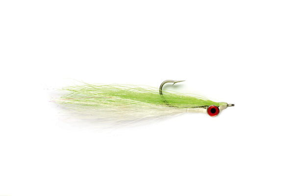 Chartreuse/White Clouser - East Rosebud Fly & Tackle - Free Shipping, No Sales Tax