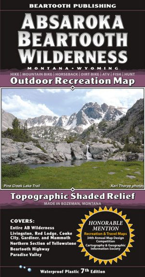 Absaroka Mountain Range Map - East Rosebud Fly and Tackle