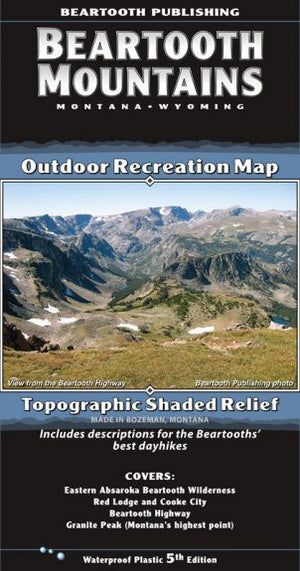 Beartooth Mountain Range Map - East Rosebud Fly & Tackle - Free Shipping, No Sales Tax