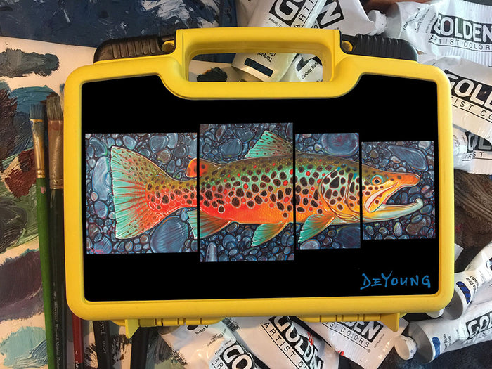 DeYoung 4 Panel Brown October - Cliff's Bugger Beast Jr. Fly Box