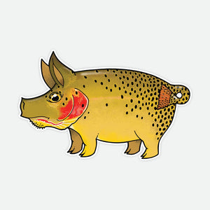 Pig Cutthroat Decal