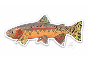 Golden Trout Decal
