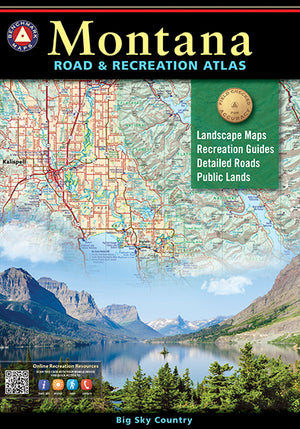 Montana Road & Recreation Atlas - East Rosebud Fly and Tackle