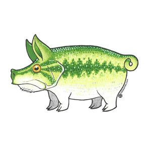 Pig Largemouth Decal - East Rosebud Fly & Tackle