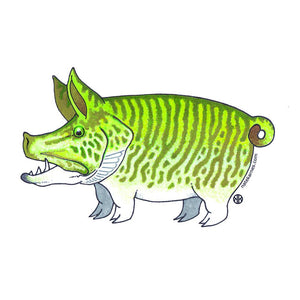 Pig Muskie Decal - East Rosebud Fly & Tackle