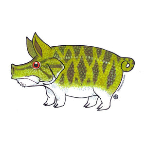 Pig Smallmouth Decal - East Rosebud Fly & Tackle