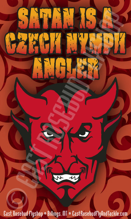 Satan Is A Czech Nymph Angler Sticker
