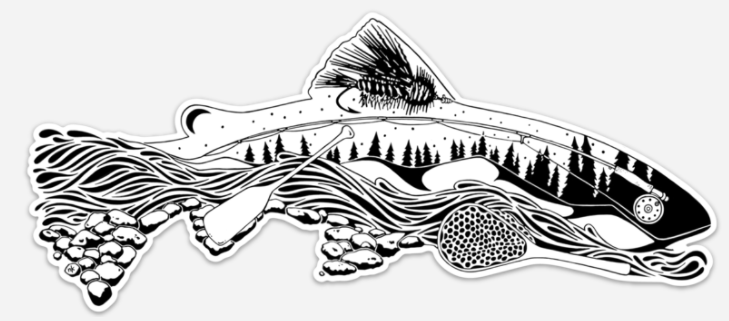 Remedy - Elements of Fly Fishing Decal - East Rosebud Fly & Tackle