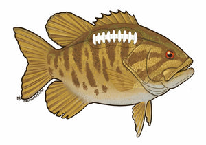 Smallie Football Decal - East Rosebud Fly & Tackle