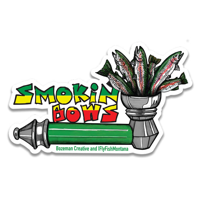 Smokin' Bows Sticker - East Rosebud Fly & Tackle