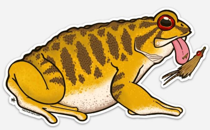 Smallmouth Toad Decal