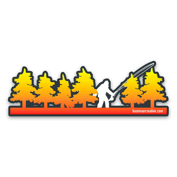 Fly Squatchin' Sticker - East Rosebud Fly & Tackle - Free Shipping, No Sales Tax