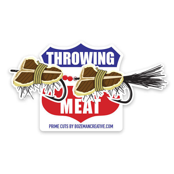 Throwing Meat Sticker