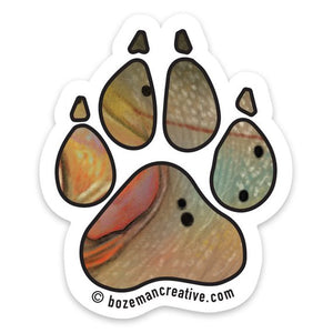 Fishing Buddy Paw Print Sticker - East Rosebud Fly & Tackle