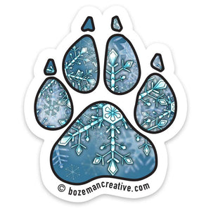 Fishing Buddy Paw Print Sticker