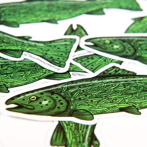 Green Trout Sticker