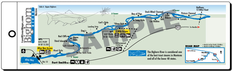 Bighorn Lower River Map
