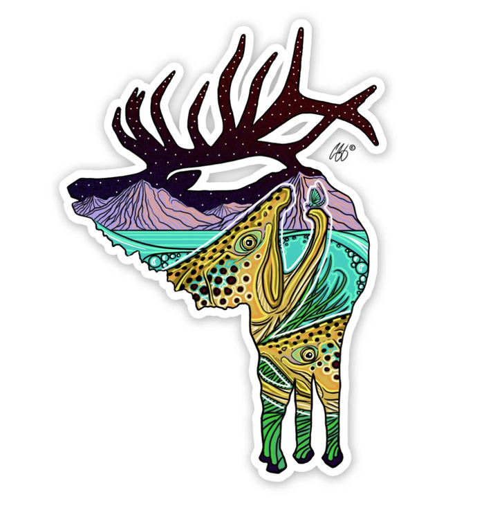 River Rut Elk Decal