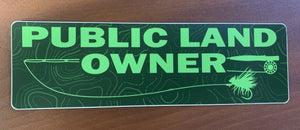Public Lands Owner Sticker