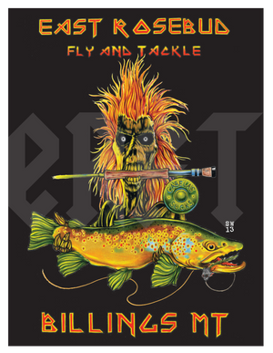 ERFT Deddie 5.0 Sticker - East Rosebud Fly & Tackle