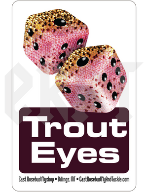 ERFT Trout Eyes Sticker - East Rosebud Fly & Tackle