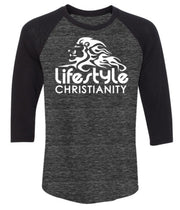 Lifestyle Christianity Black Sleeve Baseball T-Shirt