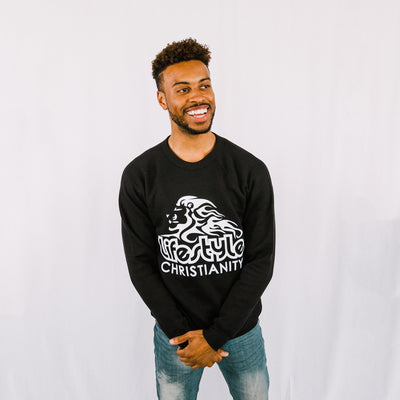 Lifestyle Christianity Black Crew Sweatshirt
