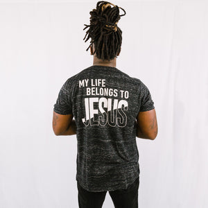 """My Life Belongs to JESUS"" Crew Neck T-Shirt"