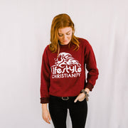 Lifestyle Christianity Red Crew Sweatshirt