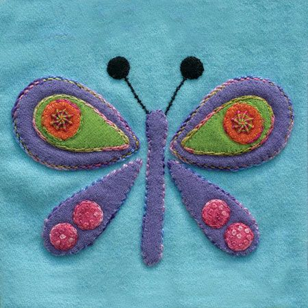 Sue Spargo Pre Cut Wool Applique Pack - Butterfly Colourway 3