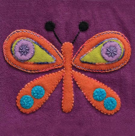 Sue Spargo Pre Cut Wool Applique Pack - Butterfly Colourway 4