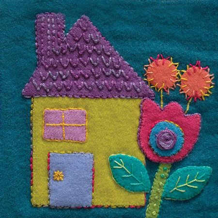 Sue Spargo Pre Cut Wool Applique Pack - House Colourway 1