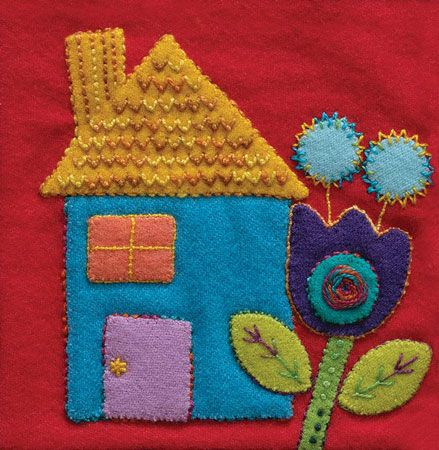 Sue Spargo Pre Cut Wool Applique Pack - House Colourway 2
