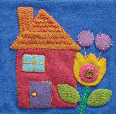 Sue Spargo Pre Cut Wool Applique Pack - House Colourway 3