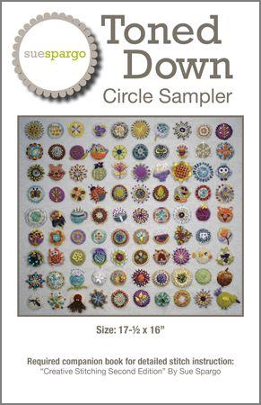 Toned Down Circle Sampler Pattern - Sue Spargo