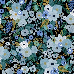 Rifle Paper Co.'s Garden Party - Garden Party Blue Fabric -  PreOrder, Arrives February/March 2021 - DELAYED UNTIL MAY