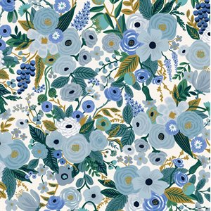 Rifle Paper Co.'s Garden Party - Petite Garden Party Blue Fabric -  PreOrder, Arrives February/March 2021 - DELAYED UNTIL MAY