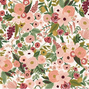 Rifle Paper Co.'s Garden Party - Petite Garden Party Rose Fabric -  PreOrder, Arrives February/March 2021 - DELAYED UNTIL MAY
